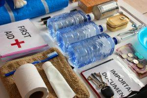water bottles in emergency kit